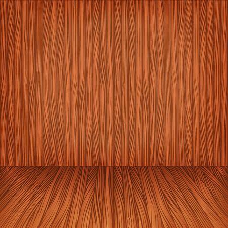 Wooden floor and wall Vector