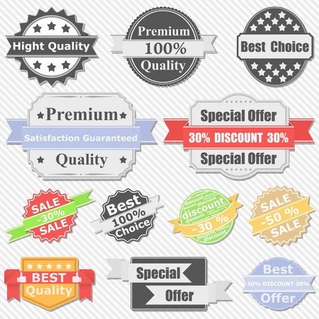 best choice: Set of Premium Quality and Sale labels