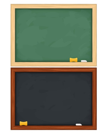 memo board: blackboards on white background
