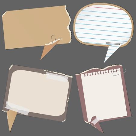 Abstract paper speech bubbles Vector