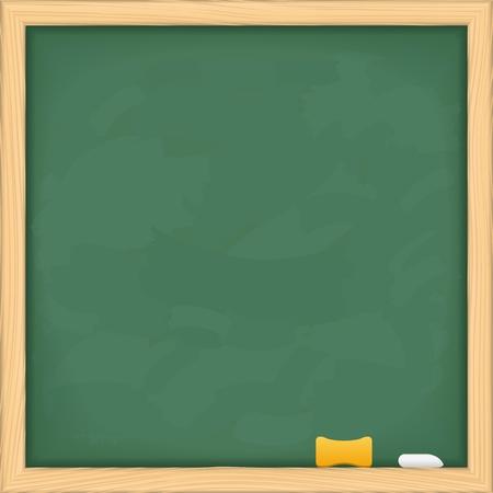 lecture room: Blank green blackboard