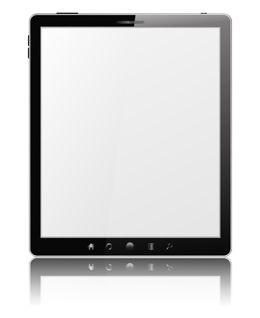 Black Tablet PC with White Screen Stock Vector - 12482245