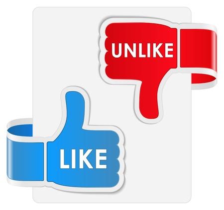 dislike: Net als En in tegenstelling tot etiketten