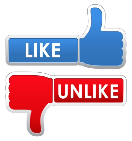 Like and Unlike Labels Stock Vector - 12482214