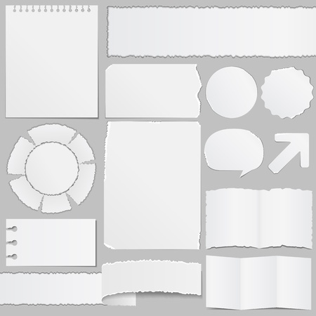 Old paper objects Stock Vector - 12482466