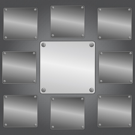 metal background Stock Vector - 12482487