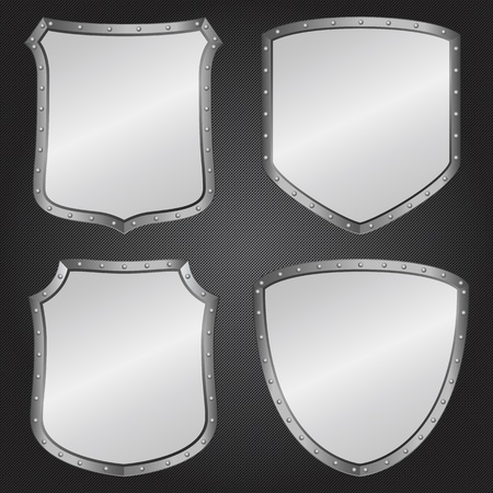 Metal shields Stock Vector - 12482467