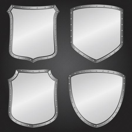 Metal shields Stock Vector - 12482467