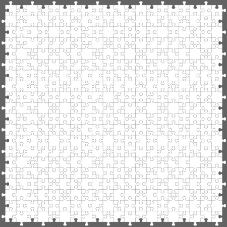 jigsaw puzzle with 200 pieces Vector