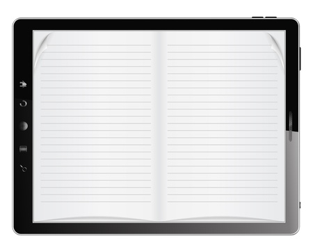 E-Book in Tablet PC Vector