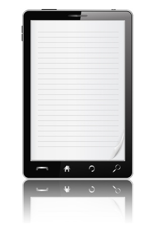 E-Book in Mobile Phone Stock Vector - 12482559
