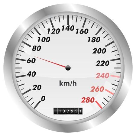 Velocímetro Ilustración de vector