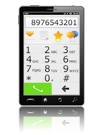 Modern Mobile Phone with Keyboard Vector