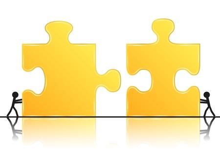 puzzle piece: Teamworrk concepto