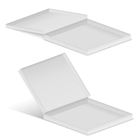 white cardboard box Vector