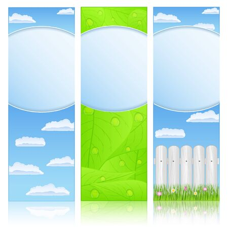 Vertical summer banners Vector