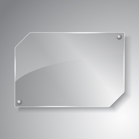 glass panel: Glass board Illustration