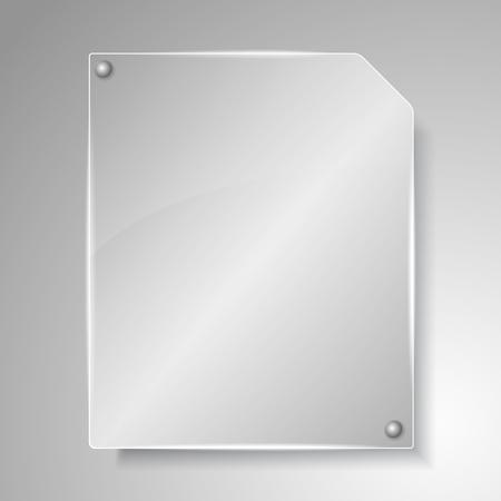 glass panel: Glass board Illustration