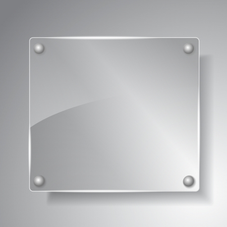Square glass board Vector