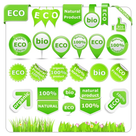 Green Eco Design Elements Vector