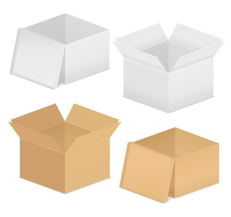 Cardboard boxes Stock Vector - 12483452