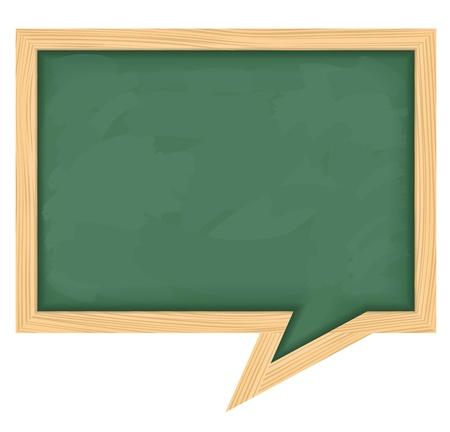 board room: Blackboard en forma de bocadillo Vectores