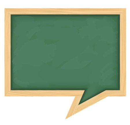 notice of: Blackboard shaped as speech bubble