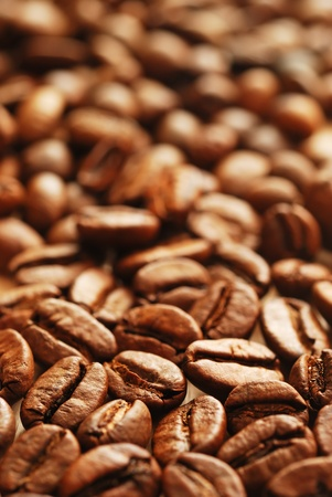 The heap of coffee beans photo