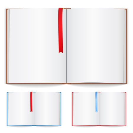 open diary: Open book with bookmark Illustration