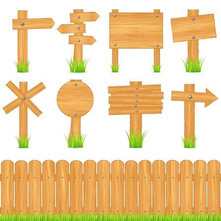 arrow wood: Conjunto de diferentes objetos de madera