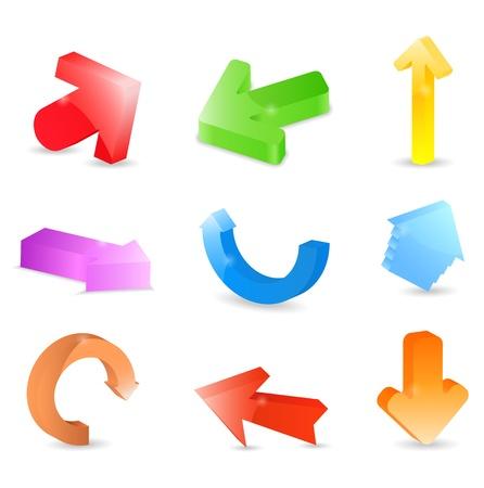 sign up button: 3D Arrows