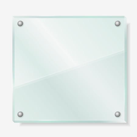 opaque: Transparent glass board Illustration