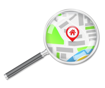 housing search: Cerca concetto di casa