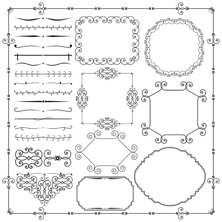 title page: Vector Vintage Design Elements Illustration