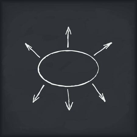 Blank diagram on blackboard Stock Vector - 12841475
