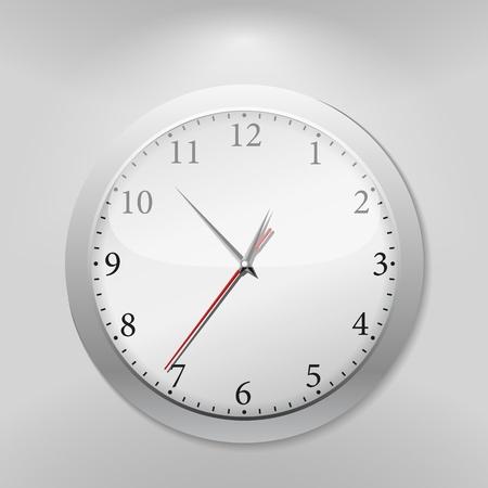 Gray wall clock Stock Vector - 12841468