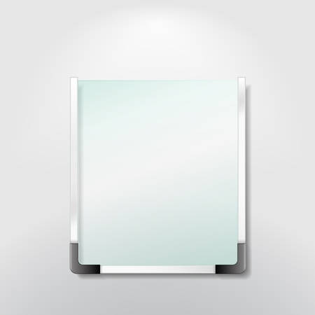 Blank information board Vector
