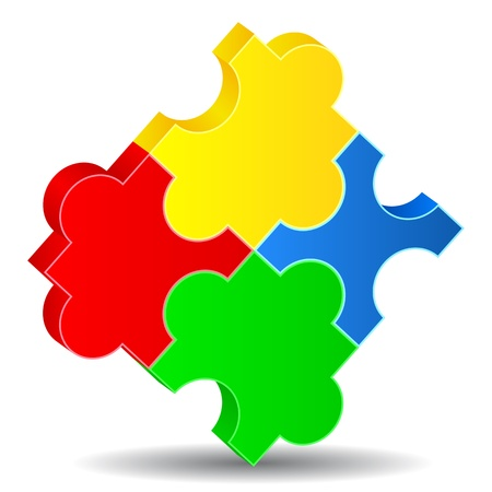 Vector Puzzle Pieces Vector