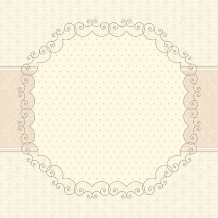 marriage certificate: Vintage card Illustration