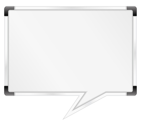 board room: Whiteboard shaped as speech bubble