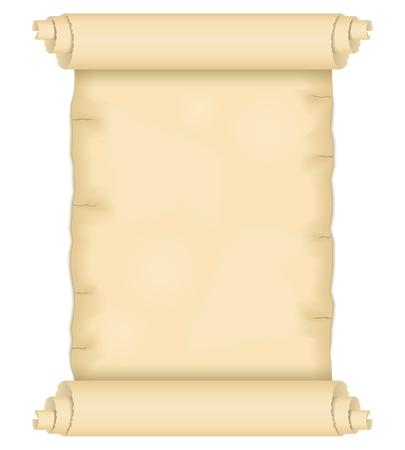 memorandum: Old paper scroll