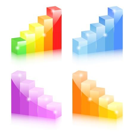 Bar graphs Stock Vector - 13024564