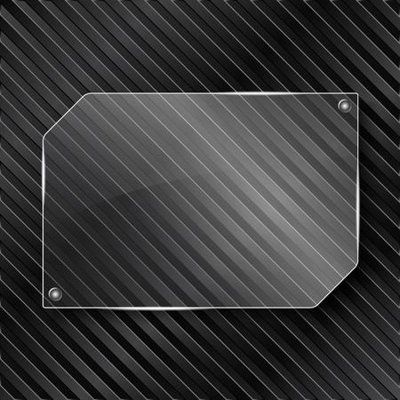 translucent: Cornice in vetro trasparente su sfondo rigato