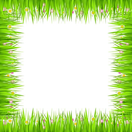 Square grass frame Stock Vector - 13024547
