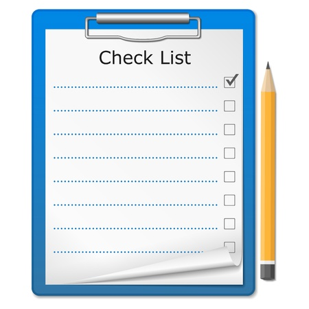 clipboard: Clipboard with checklist