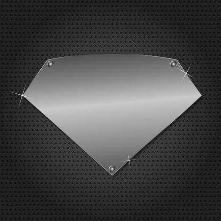 placa bacteriana: Metal placa sobre fondo negro