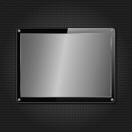 platin: Metallplatte auf schwarzem Hintergrund