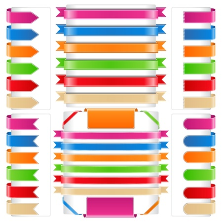 Set of different ribbons Vector