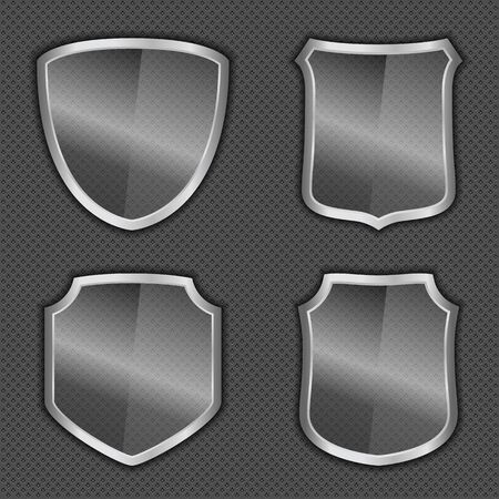 Transparent glass shields Vector