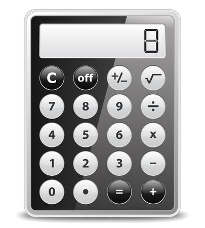 calculator icon: Black calculator